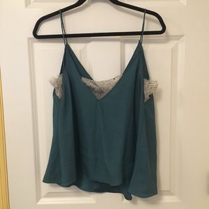 Free People Deep V Lace Cami